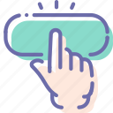 click, finger, gesture, hand icon