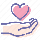hand, heart, love, share