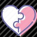 couple, heart, love, puzzle