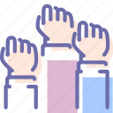 elections, freedom, hands, revolution icon