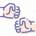 fist, hands, punch, shake icon
