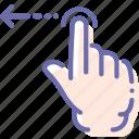 gesture, hand, left, swipe