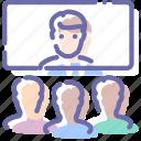 communication, employee, people, video icon