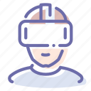 helmet, reality, virtual, vr icon