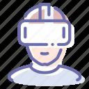 virtual, vr, helmet, reality