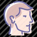 face, head, man, profile icon
