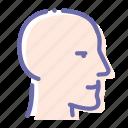 account, bald, man, head, face icon