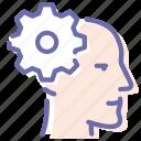 head, man, process, settings icon