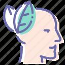 calm, head, man, peace icon