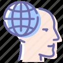global, head, man, thinking