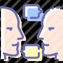 communication, head, people, talk
