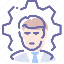 business, employee, man, process icon