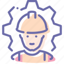 employee, factory, process, worker icon
