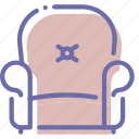 armchair, cushioned, furniture, leather icon