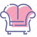 armchair, decorative, furniture, lounge icon