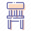 chair, furniture, interior, stool icon