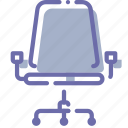 armchair, furniture, office, wheels icon