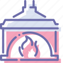 chimney, fireplace, household, interior icon