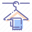 clothes, hanger, interior, towel icon