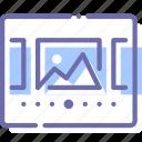 images, interface, layout, slideshow icon
