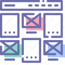 layout, project, website, wireframe icon