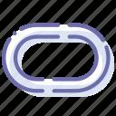 road, stadium, track, treadmill icon