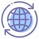 around, earth, globe, world icon