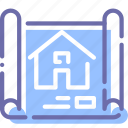 house, map, plan, scheme icon