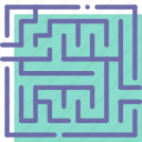 labyrinth, map, maze, quest icon
