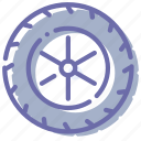 wheel, car, tire, rubber icon