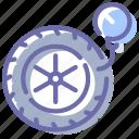pump, wheel, pressure, tire icon