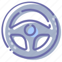 car, rule, steering, wheel icon
