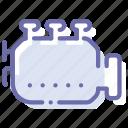 car, engine, industrial, mechanic icon