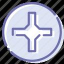 cross, helix, pozidriv, screw icon