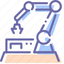 factory, line, production, robot icon