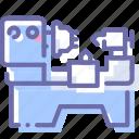 factory, lathe, machine, production icon