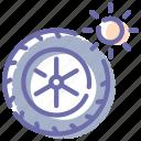 car, summer, tires, wheel icon