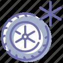 car, tires, wheel, winter icon