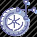 fitting, service, tire, wheel icon