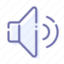 normal, sound, volume icon