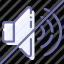 big, mute, nosound, volume icon