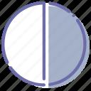 colors, contrast, white icon