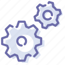 configuration, gears, process, settings icon