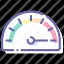 dash, dashboard, gauge, speed icon