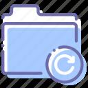 folder, refresh, reload, storage icon