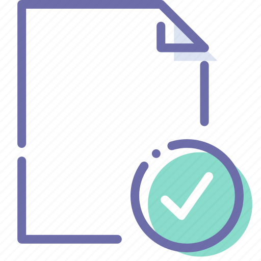 Check, document, file, paper icon - Download on Iconfinder
