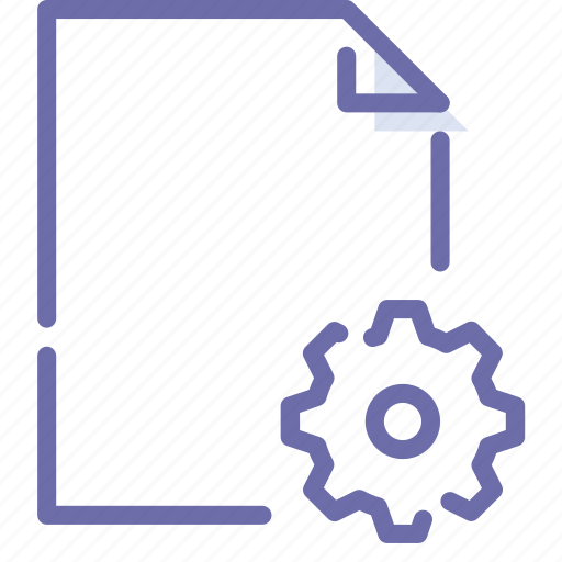 Document, file, paper, settings icon - Download on Iconfinder