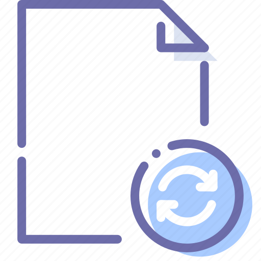 Document, file, paper, sync icon - Download on Iconfinder