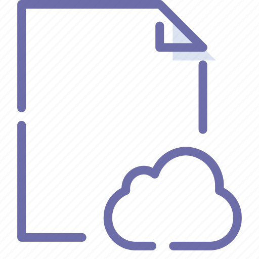 Cloud, document, file, paper icon - Download on Iconfinder