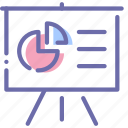 analytics, easel, presentation, statistics icon